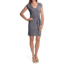 Icebreaker Superfine 200 Villa Dress - Merino Wool, V-Neck, Short Sleeves (For Women) in Pewter - Closeouts
