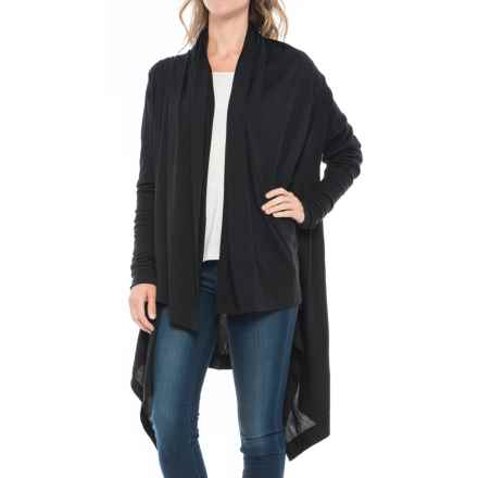 Icebreaker Sydney Wrap Cardigan Shirt - Merino Wool, Long Sleeve (For Women) in Black/Black - Closeouts