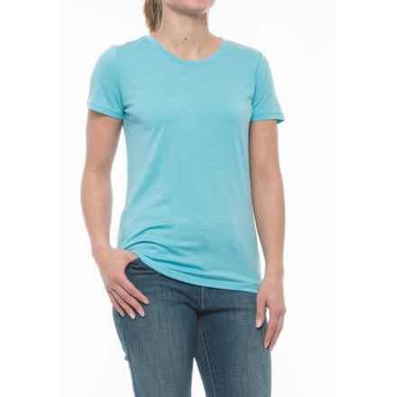 Icebreaker Tech Crew Shirt - UPF 30+, Merino Wool, Short Sleeve (For Women) in Water - Closeouts