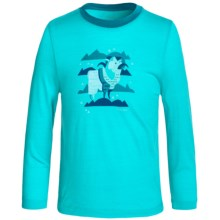 Icebreaker Tech Crewe Shirt - Merino Wool, Long Sleeve (For Little and Big Kids) in Aquamarine/Alpine - Closeouts