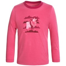Icebreaker Tech Crewe Shirt - Merino Wool, Long Sleeve (For Little and Big Kids) in Shocking/Raspberry - Closeouts