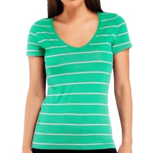 Icebreaker Tech Lite 150 Shirt - UPF 20+, Merino Wool, Short Sleeve (For Women) in Patina/Snow - Closeouts