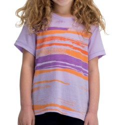 Icebreaker Tech Lite 150 Shoreline T-Shirt - UPF 30+, Merino Wool, Short Sleeve (For Kids) in Hyacinth