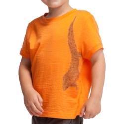 Icebreaker Tech Lite 150 Tuatara T-Shirt - UPF 30+, Merino Wool, Short Sleeve (For Kids) in Monsoon Heather