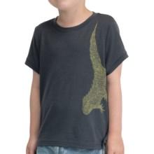 Icebreaker Tech Lite 150 Tuatara T-Shirt - UPF 30+, Merino Wool, Short Sleeve (For Kids) in Monsoon Heather - Closeouts