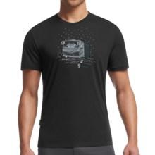 Icebreaker Tech Lite Basecamp Shirt - UPF 20+, Merino Wool Blend, Short Sleeve (For Men) in Black - Closeouts