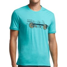 Icebreaker Tech Lite Branch Bike T-Shirt - UPF 20+, Merino Wool, Short Sleeve (For Men) in Aquamarine - Closeouts