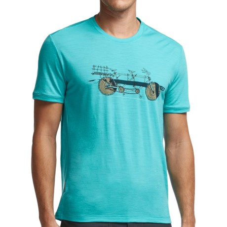 Icebreaker Tech Lite Branch Bike T Shirt UPF 20+, Merino Wool, Short Sleeve (For Men)