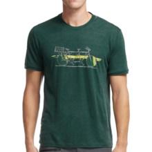 Icebreaker Tech Lite Branch Bike T-Shirt - UPF 20+, Merino Wool, Short Sleeve (For Men) in Pine - Closeouts
