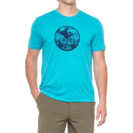 Icebreaker Tech Lite Challenge T-Shirt - Merino wool, Short Sleeve (For Men) in Capri - Closeouts