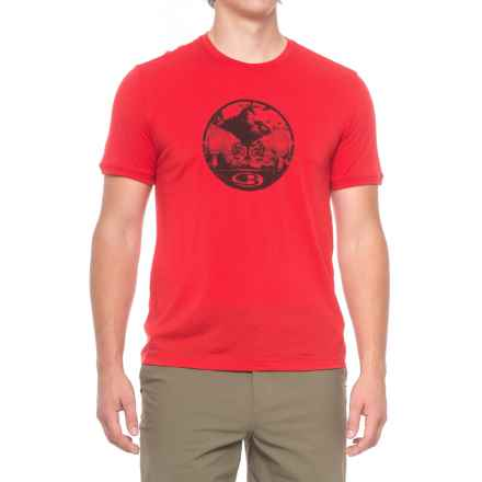 Icebreaker Tech Lite Challenge T-Shirt - Merino wool, Short Sleeve (For Men) in Rocket - Closeouts