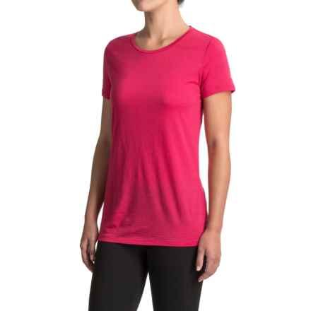 Icebreaker Tech Lite Crewe T-Shirt - Merino Wool, Short Sleeve (For Women) in Cherub - Closeouts