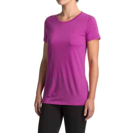 Icebreaker Tech Lite Crewe T-Shirt - Merino Wool, Short Sleeve (For Women) in Sweetpea - Closeouts