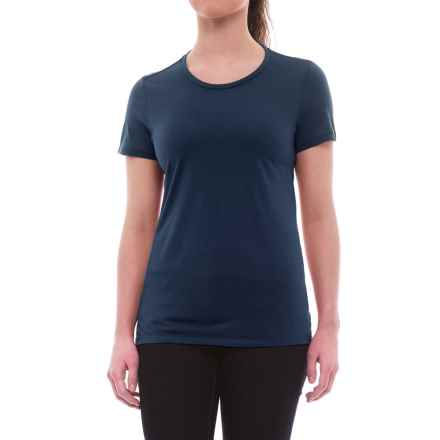 Icebreaker Tech Lite Crewe T-Shirt - UPF 20+, Merino Wool (For Women) in Admiral - Closeouts