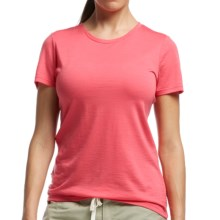 Icebreaker Tech Lite Crewe T-Shirt - UPF 20+, Merino Wool (For Women) in Grapefruit - Closeouts