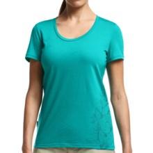 Icebreaker Tech Lite Entwined T-Shirt - UPF 20+, Merino Wool, Short Sleeve (For Women) in Mermaid - Closeouts