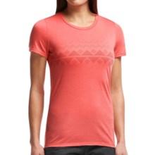 Icebreaker Tech Lite Fair Isle T-Shirt - UPF 20+, Merino Wool, Short Sleeve (For Women) in Cameo - Closeouts
