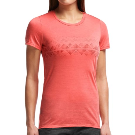 Icebreaker Tech Lite Fair Isle T Shirt UPF 20+, Merino Wool, Short Sleeve (For Women)