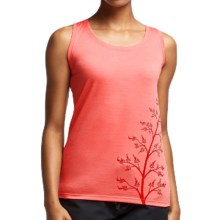 Icebreaker Tech Lite Flax Tank Top - UPF 20+, Merino Wool (For Women) in Shell - Closeouts