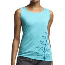 Icebreaker Tech Lite Flax Tank Top - UPF 20+, Merino Wool (For Women) in Water - Closeouts