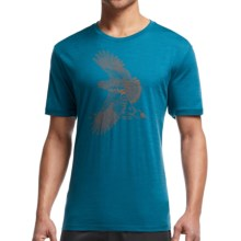 Icebreaker Tech Lite Flight Shirt - UPF 20+, Merino Wool Blend, Short Sleeve (For Men) in Shore - Closeouts