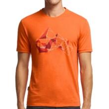 Icebreaker Tech Lite Glass Mountain T-Shirt - Merino Wool, Short Sleeve (For Men) in Spark - Closeouts