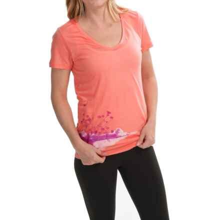 Icebreaker Tech Lite Lace Shirt - UPF 20+, Merino Wool, Short Sleeve (For Women) in Shell - Closeouts