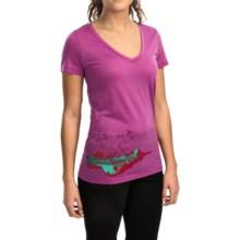 Icebreaker Tech Lite Lace Shirt - UPF 20+, Merino Wool, Short Sleeve (For Women) in Sweetpea - Closeouts