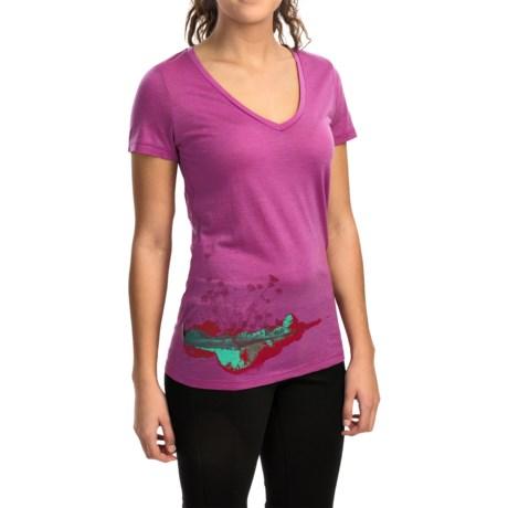 Icebreaker Tech Lite Lace Shirt - UPF 20+, Merino Wool, Short Sleeve (For Women)