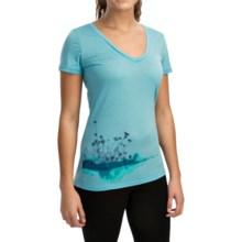 Icebreaker Tech Lite Lace Shirt - UPF 20+, Merino Wool, Short Sleeve (For Women) in Water - Closeouts