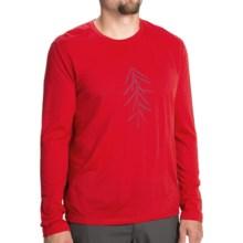 Icebreaker Tech Lite Lancewood Shirt - UPF 30+, Long Sleeve (For Men) in Rocket - Closeouts