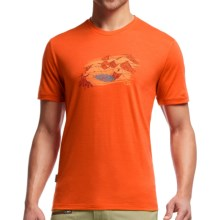 Icebreaker Tech Lite Lost Lake Shirt - UPF 20+, Merino Wool Blend, Short Sleeve (For Men) in Spark - Closeouts