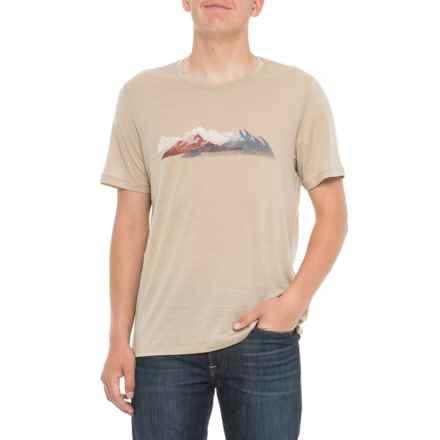 Icebreaker Tech Lite Misty Peaks T-Shirt - Merino Wool, Short Sleeve (For Men) in Straw - Closeouts