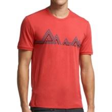 Icebreaker Tech Lite Mountain Beat T-Shirt - UPF 20+, Merino Wool, Short Sleeve (For Men) in Clay - Closeouts