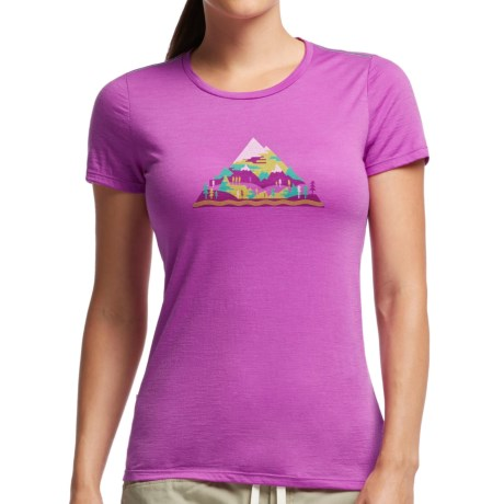 Icebreaker Tech Lite Playground T Shirt Merino Wool, Short Sleeve (For Women)