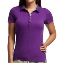 Icebreaker Tech Lite Polo Shirt - UPF 20+, Merino Wool, Short Sleeve (For Women) in Emperor/Metro Heather - Closeouts