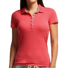 Icebreaker Tech Lite Polo Shirt - UPF 20+, Merino Wool, Short Sleeve (For Women) in Grapefruit/Metro Heather - Closeouts