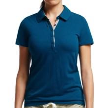 Icebreaker Tech Lite Polo Shirt - UPF 20+, Merino Wool, Short Sleeve (For Women) in Isle/Metro Heather - Closeouts