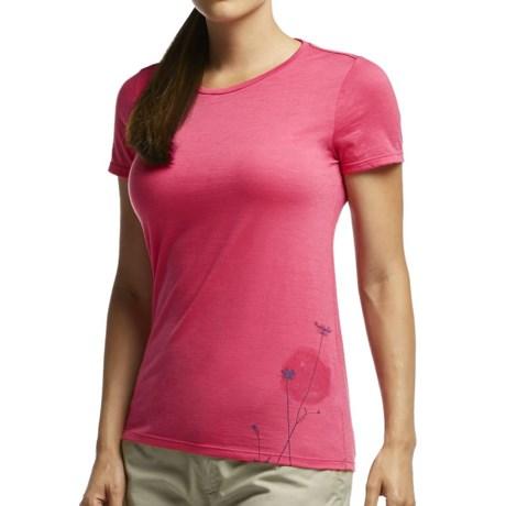 Icebreaker Tech Lite Rising Sun Shirt UPF 20+, Merino Wool, Short Sleeve (For Women)