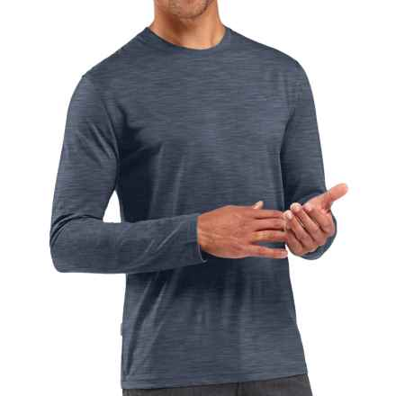 Icebreaker Tech Lite Shirt - UPF 30+, Merino Wool, Long Sleeve (For Men) in Fathom Heather - Closeouts