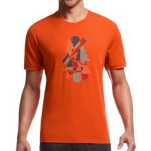 Icebreaker Tech Lite Slider Shirt - UPF 20+, Merino Wool Blend, Short Sleeve (For Men) in Spark - Closeouts