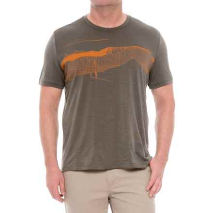 Icebreaker Tech Lite Spanish Plunder T-Shirt - Merino Wool, Short Sleeve (For Men) in Kona - Closeouts