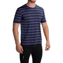 Icebreaker Tech Lite Stripe T-Shirt - UPF 20+, Merino Wool, Short Sleeve (For Men) in Admiral/Metro Heather - Closeouts