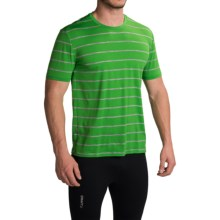 Icebreaker Tech Lite Stripe T-Shirt - UPF 20+, Merino Wool, Short Sleeve (For Men) in Lawn/Metro Heather - Closeouts