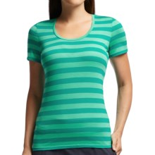 Icebreaker Tech Lite Stripe T-Shirt - UPF 20+, Merino Wool, Short Sleeve (For Women) in Mermaid/Patina/Mermaid - Closeouts