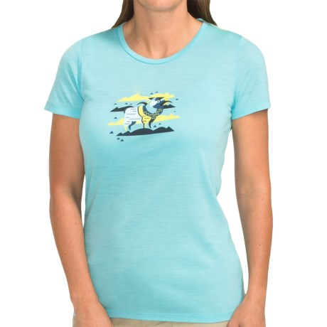 Icebreaker Tech Lite T Shirt UPF 30+, Merino Wool, Short Sleeve (For Women)