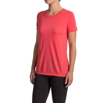 Icebreaker Tech Lite TBC T-Shirt - Merino Wool, Short Sleeve (For Women) in Grapefruit - Closeouts