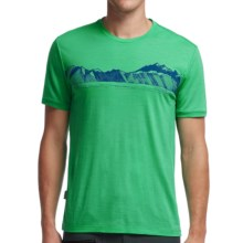 Icebreaker Tech Lite Valley T-Shirt - UPF 20+, Merino Wool, Short Sleeve (For Men) in Viridian - Closeouts