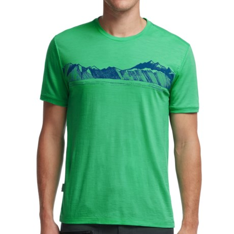 Icebreaker Tech Lite Valley T Shirt UPF 20+, Merino Wool, Short Sleeve (For Men)