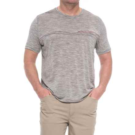 Icebreaker Tech Lite Waterline Shirt - Merino Wool, Short Sleeve (For Men) in Metro Heather - Closeouts